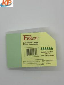 Giấy Note 3×3  Pronoti (Xanh Cốm)