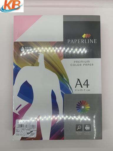Giấy hồng Paperline A4 ĐL 80gsm