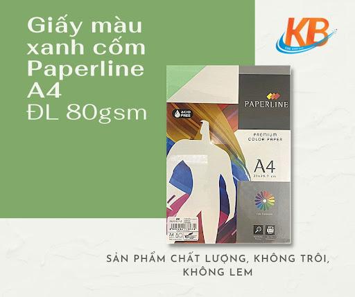Giấy màu Xanh Cốm Paperline A4 ĐL 80 gsm