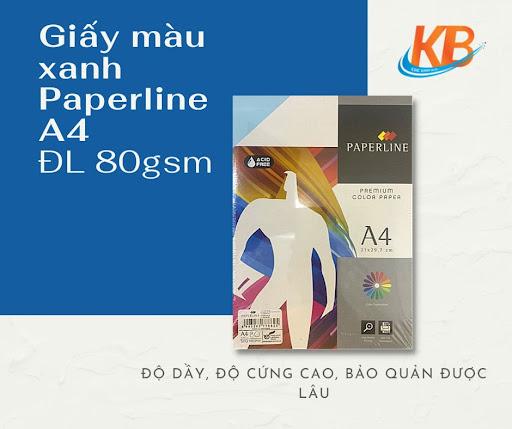 Giấy màu Xanh Paperline A4 ĐL 80
