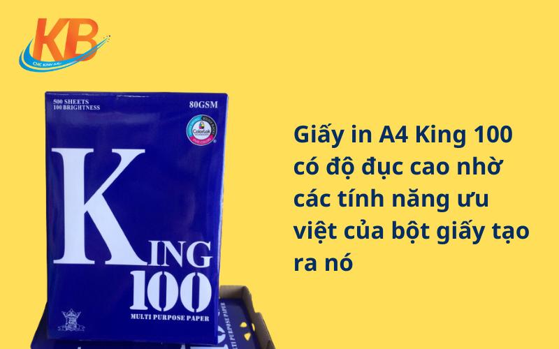 giấy A4 King 100 ĐL 70gsm